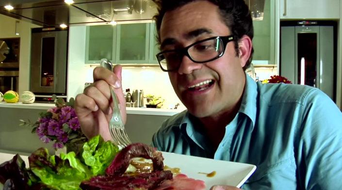 Provando carne de cavalo no CNCV